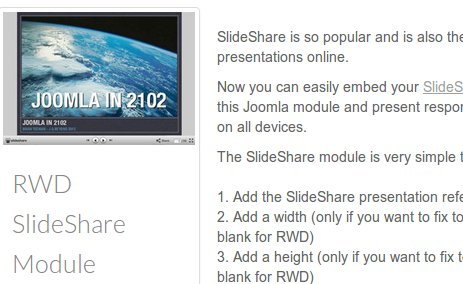 Responsive SlideShare Module for all devices
